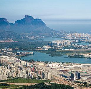 Visão geral do Parque Olímpico da Barra antes das Olimpíadas de 2016