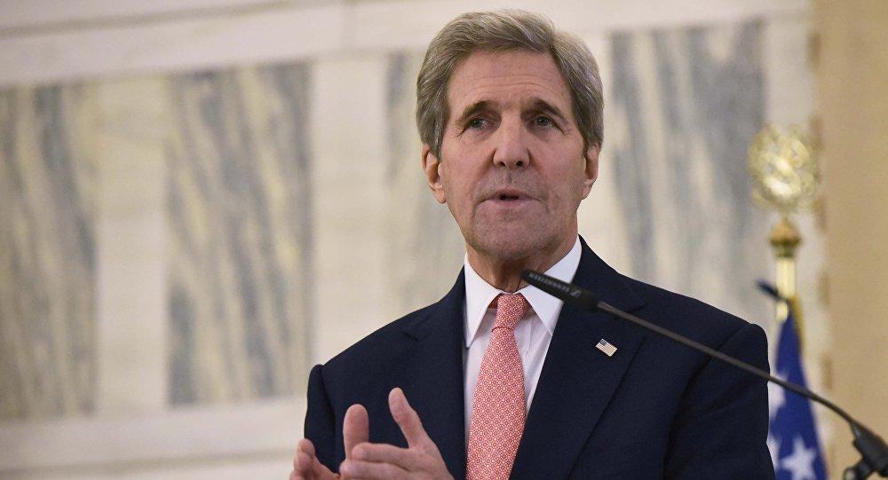 John Kerry durante o encontro sobre a Líbia em Roma, em 13 de dezembro