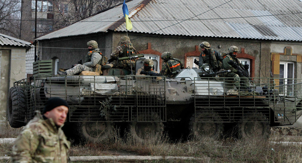 Soldados do exército ucraniano