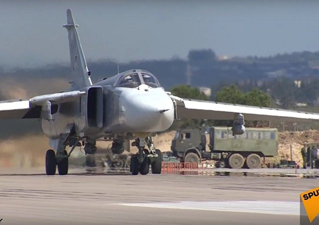 Syria: Russian Sukhoi Jets Take Off From Air Force Base in Latakia
