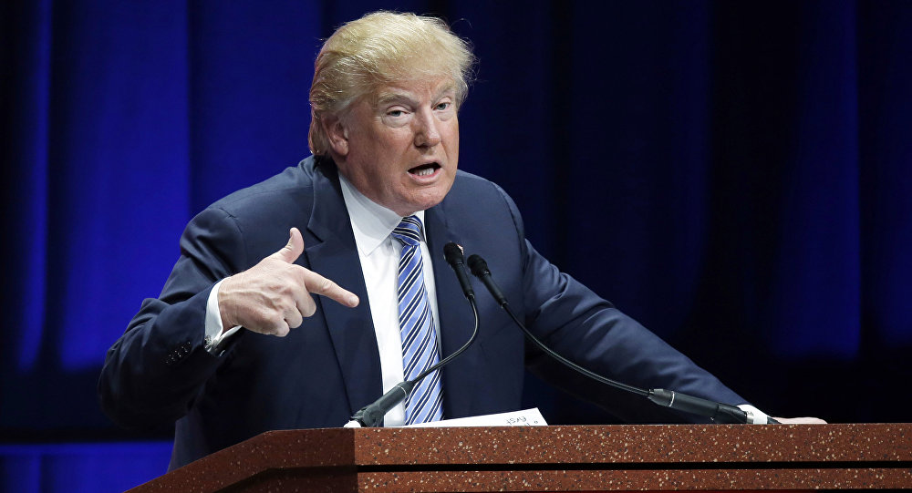 Candidato republicano à presidência norte-americana, Donald Trump