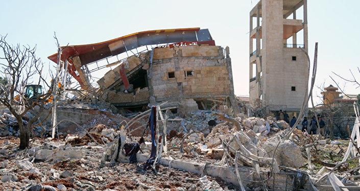 Este é o hospital da MSF em Maaret al-Nuuman, destruído em 15 de fevereiro de 2016