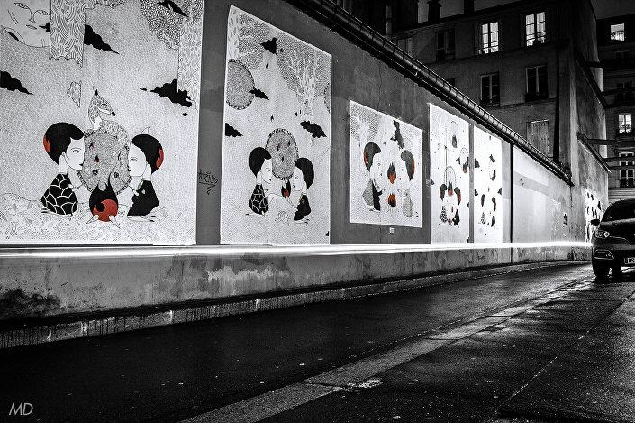 Desenho do pintor parisiense, Fred Le Chevalier