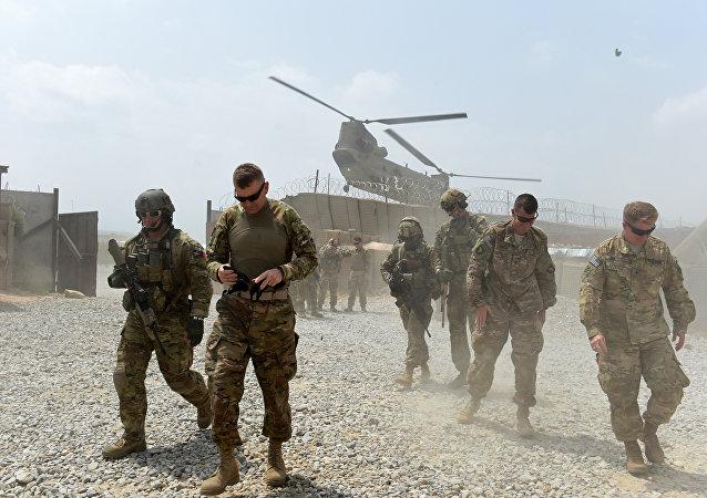 Soldados norte-americanos no Afeganistão, 13 de agosto de 2015