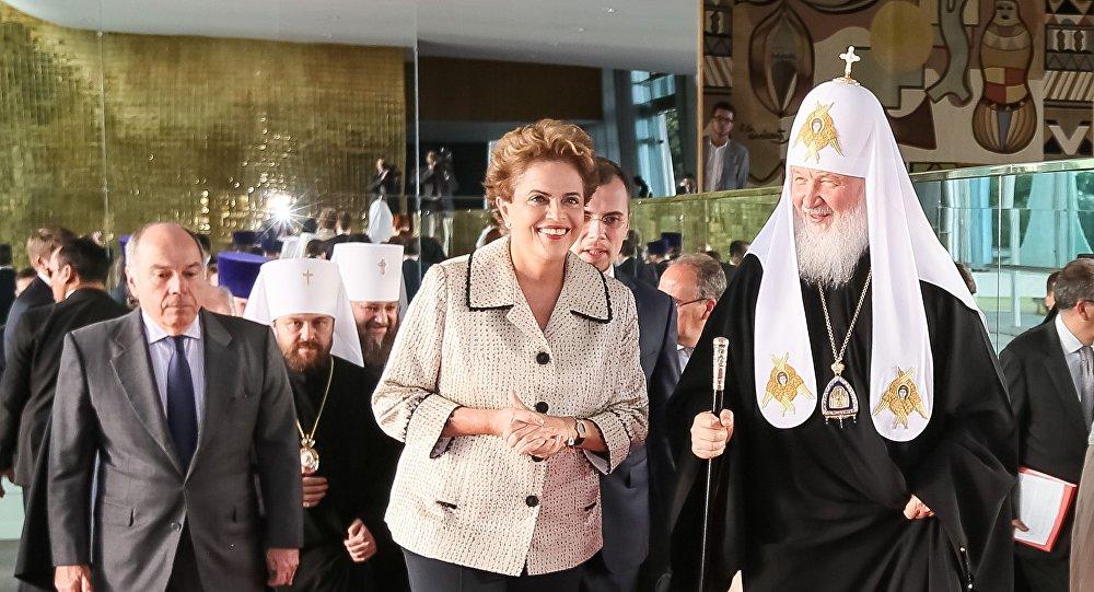 Dilma recebe o patriarca Kirill da Igreja Ortodoxa Russa