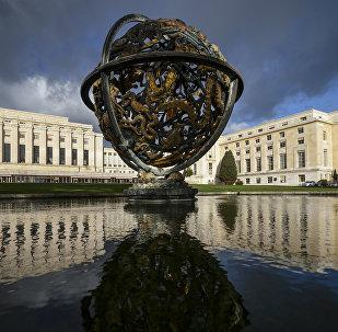 Vista geral da sede das Nações Unidas (ONU), em Genebra