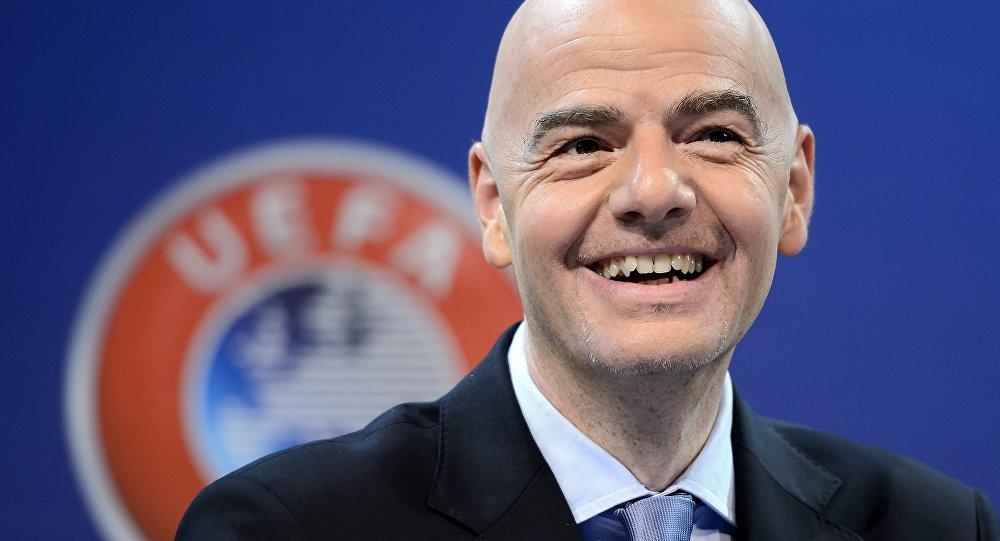 Gianni Infantino, novo presidente da FIFA (eleito em 26 de fevereiro de 2016)