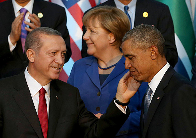 Presidente da Turquia, Recep Tayyip Erdogan, com o presidente dos EUA, Barack Obama