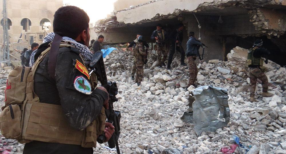 Forças de segurança do Iraque na província de Anbar, após combates com o Daesh