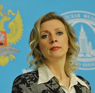 Representante oficial do Ministério das Relações Exteriores russo, Maria Zakharova, durante a entrevista coletiva semanal, Moscou, Rússia, 2 de março de 2016
