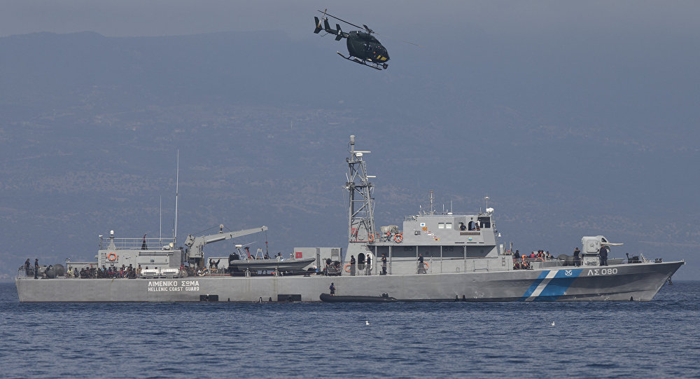 Navio da guarda costeira grega