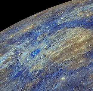 A superfície do Mercúrio