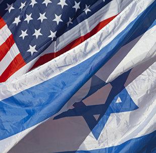 Bandeiras de Israel e dos EUA