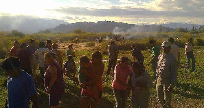 Na província argentina de La Rioja, dois helicópteros colidiram no céu