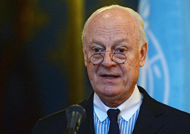 Staffan de Mistura, enviado especial da ONU para a Síria (foto de arquivo)