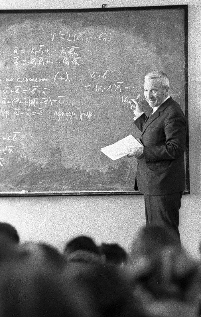 Andrei Kolmogorov durante uma aula (foto de arquivo)