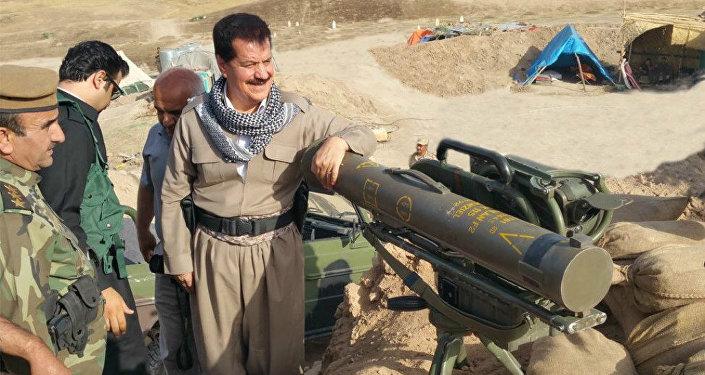 Kemal Kerkuki, comandnte das tropas curdas peshmerga na cidade de Kirkuk