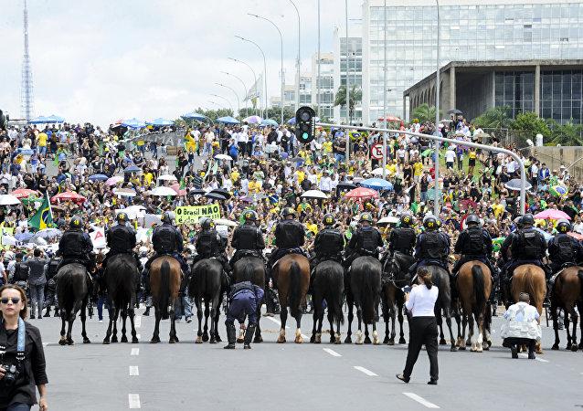 Manifestação contra Lula e Dilma