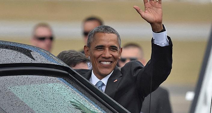 Presidente norte-americano Barack Obama no aeroporto Jose Marti, Havana, Cuba, 20 de março de 2016