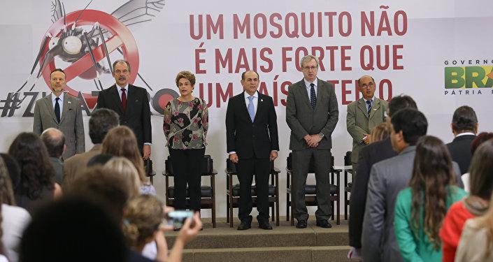 Dilma Rousseff participa da cerimônia de lançamento do Plano Nacional de Enfrentamento ao Aedes e à Microcefalia