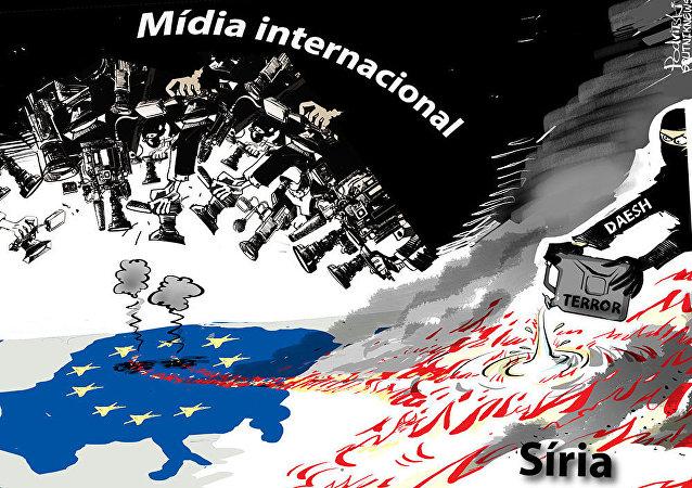 Hipocrisia da mídia internacional