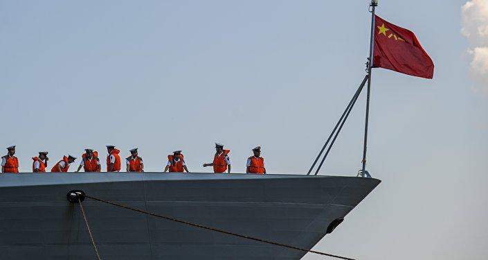 Navio chinês entra no porto de Havana, Cuba