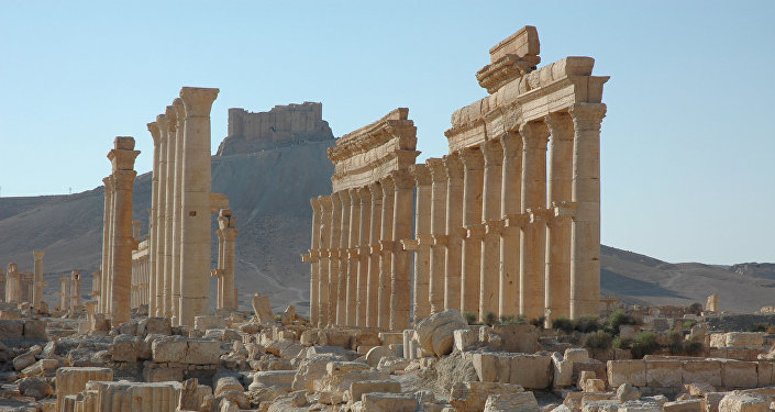 Castelo de Palmira (no fundo da foto)