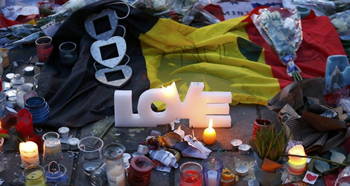 Tributo a vítimas do terrorismo em Bruxelas, Bélgica