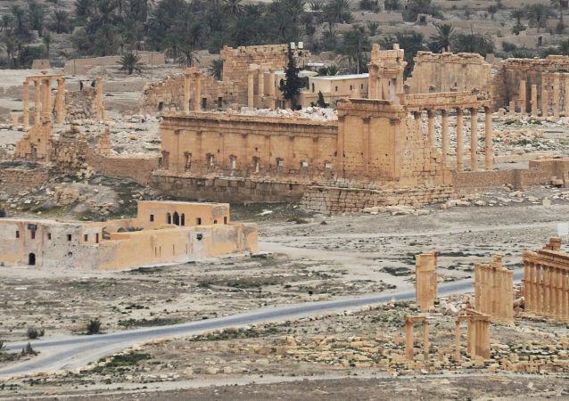 Assim é a parte histórica de Palmira hoje em dia