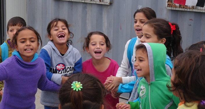 Crianças em Palmira, Síria