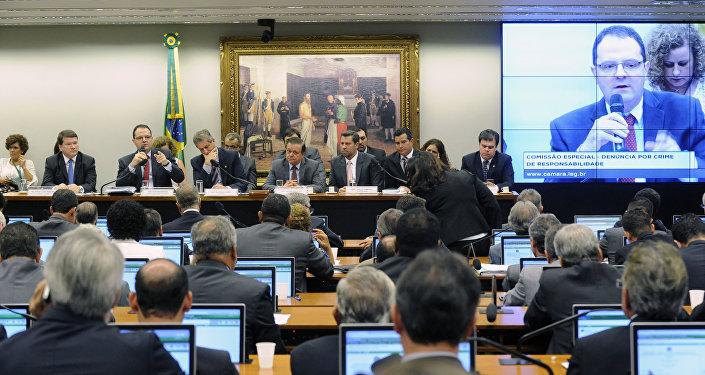 Apresentação da Defesa da Presidente Dilma Rousseff pelo Ministro da Fazenda, Nelson Barbosa na Câmara