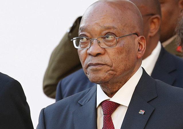 O presidente da África do Sul, Jacob Zuma, em 31 de março de 2016, durante sessão do Tribunal Constitucional