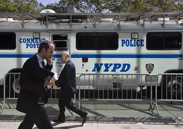 Um carro da polícia de Nova York (foto de arquivo)