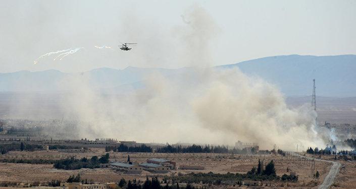 Helicópteros russos Ka-52 'Alligator' são usados contra o Daesh na Síria