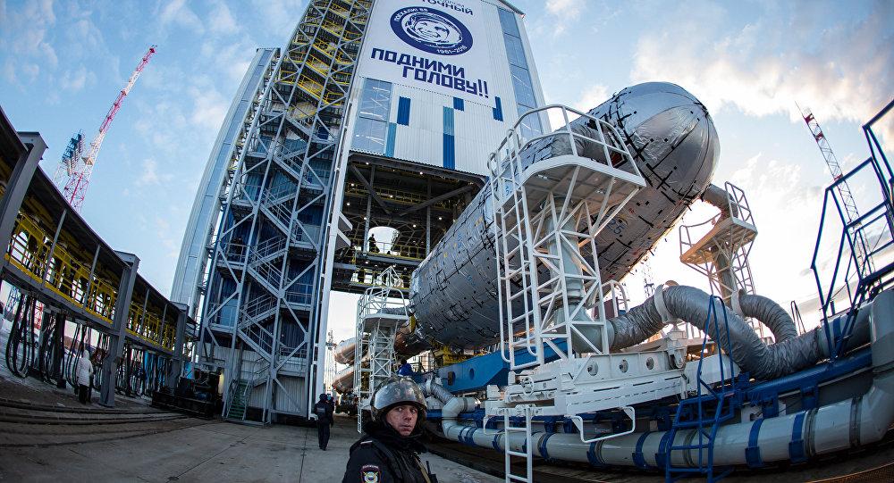 Foguete Soyuz-2.1а na base de lançamento Vostochny