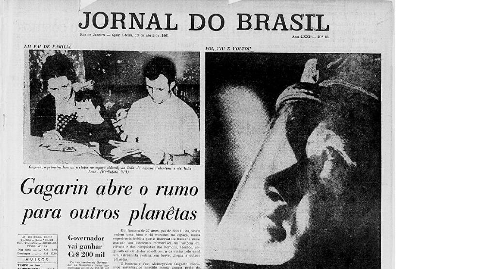 Capa do Jornal do Brasil em 13 de abril de 1961