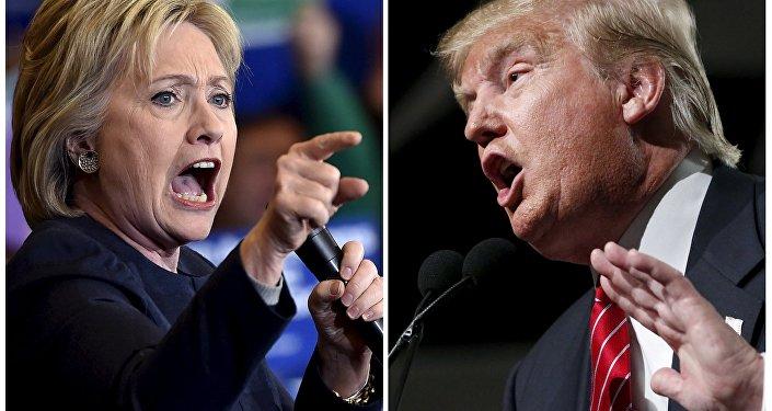 Candidatos à presidência norte-americana Hillary Clinton do Partido Democrata e Donald Trump do Partido Republicano (foto de arquivo)