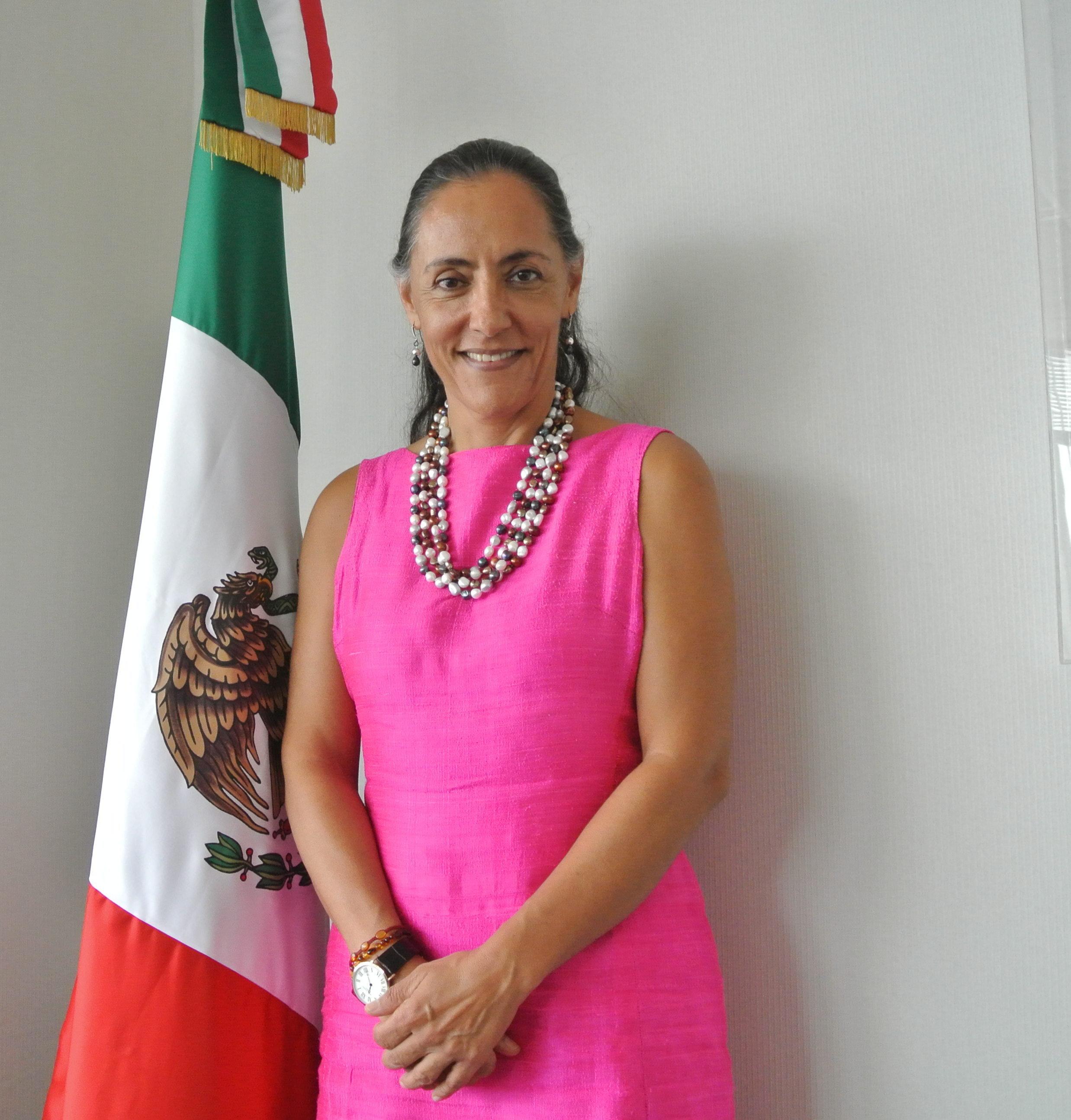 A embaixadora mexicana na Índia, H.E. Melba Pria
