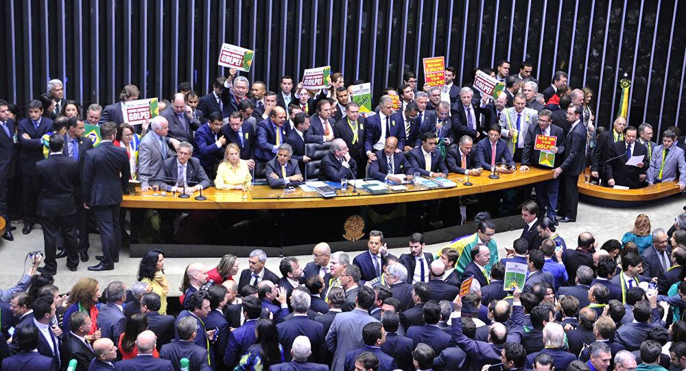Votação do pedido de impeachment da presidenta Dilma Rousseff, na Câmara dos Deputados
