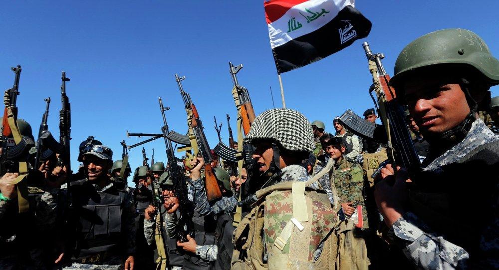 Forças do Iraque em Al Hadidiya, ao sul de Tikrit