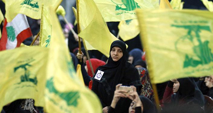 Membros do movimento Hezbollah