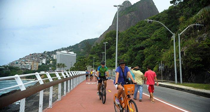 Ciclovia Tim Maia, no Rio de Janeiro