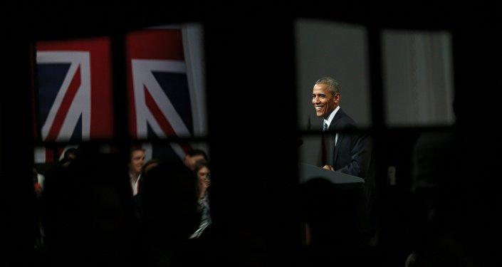 Barack Obama no Lindley Hall em Londres