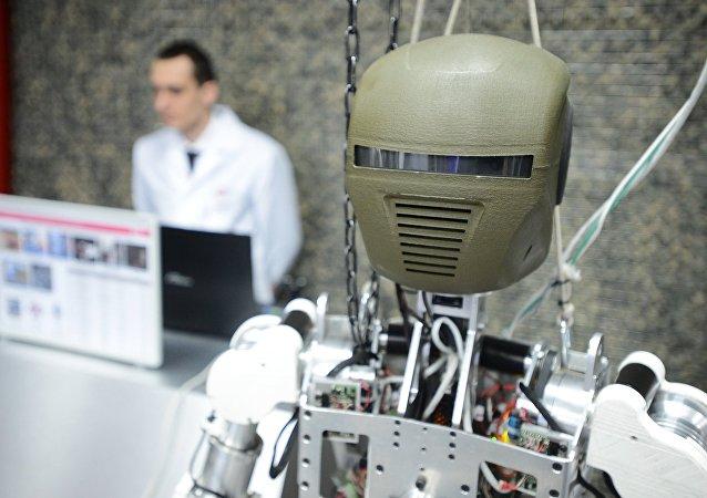 O robô de combate