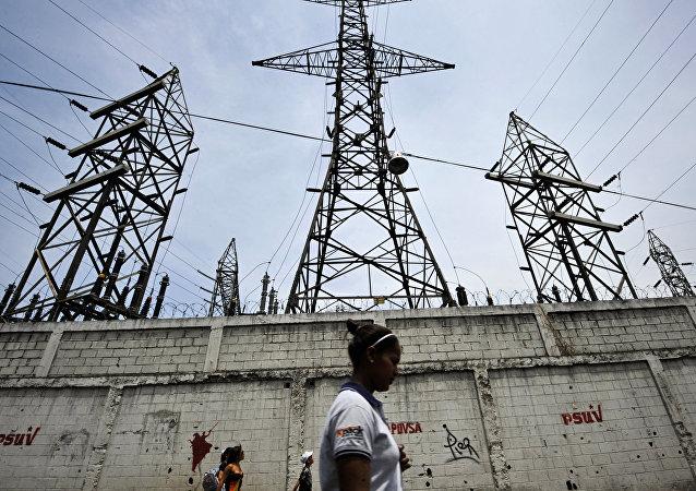Linhas de transmissão em Caracas, Venezuela