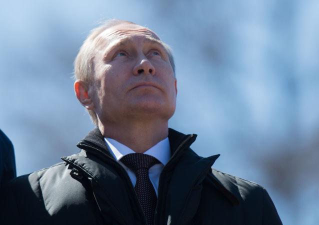 O presidente russo, Vladimir Putin, no cosmódromo de Vostochny