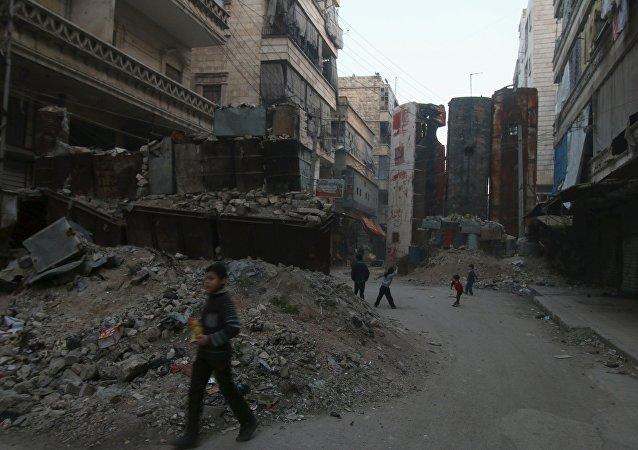 Bairro de Bustan al-Qasr, em Aleppo, Síria