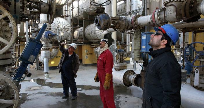 Refinaria de petróleo ao sul de Teerã, capital do Irã