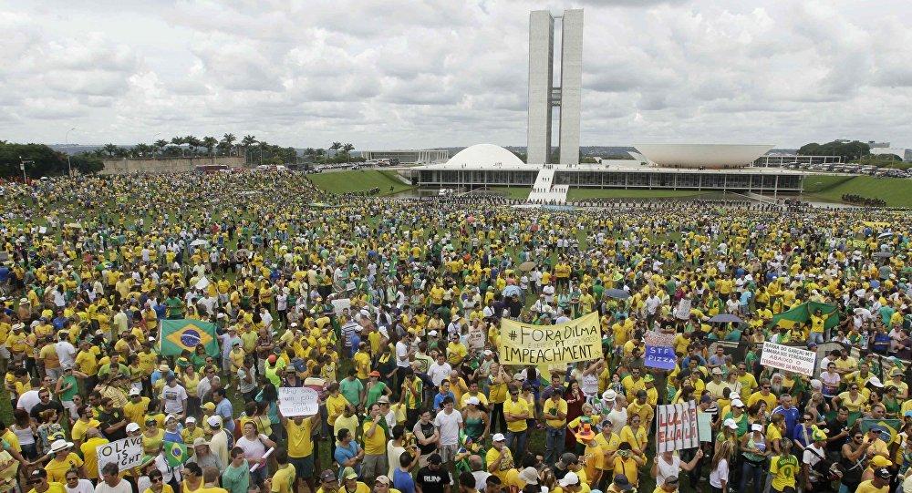 Protesto contra a presidenta Dilma Rousseff em Brasília