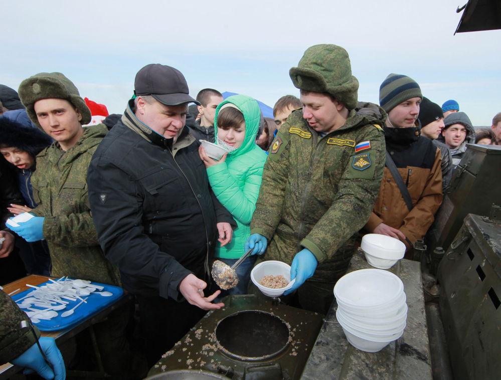 Região russa comemora anniversário de libertação dos nazistas